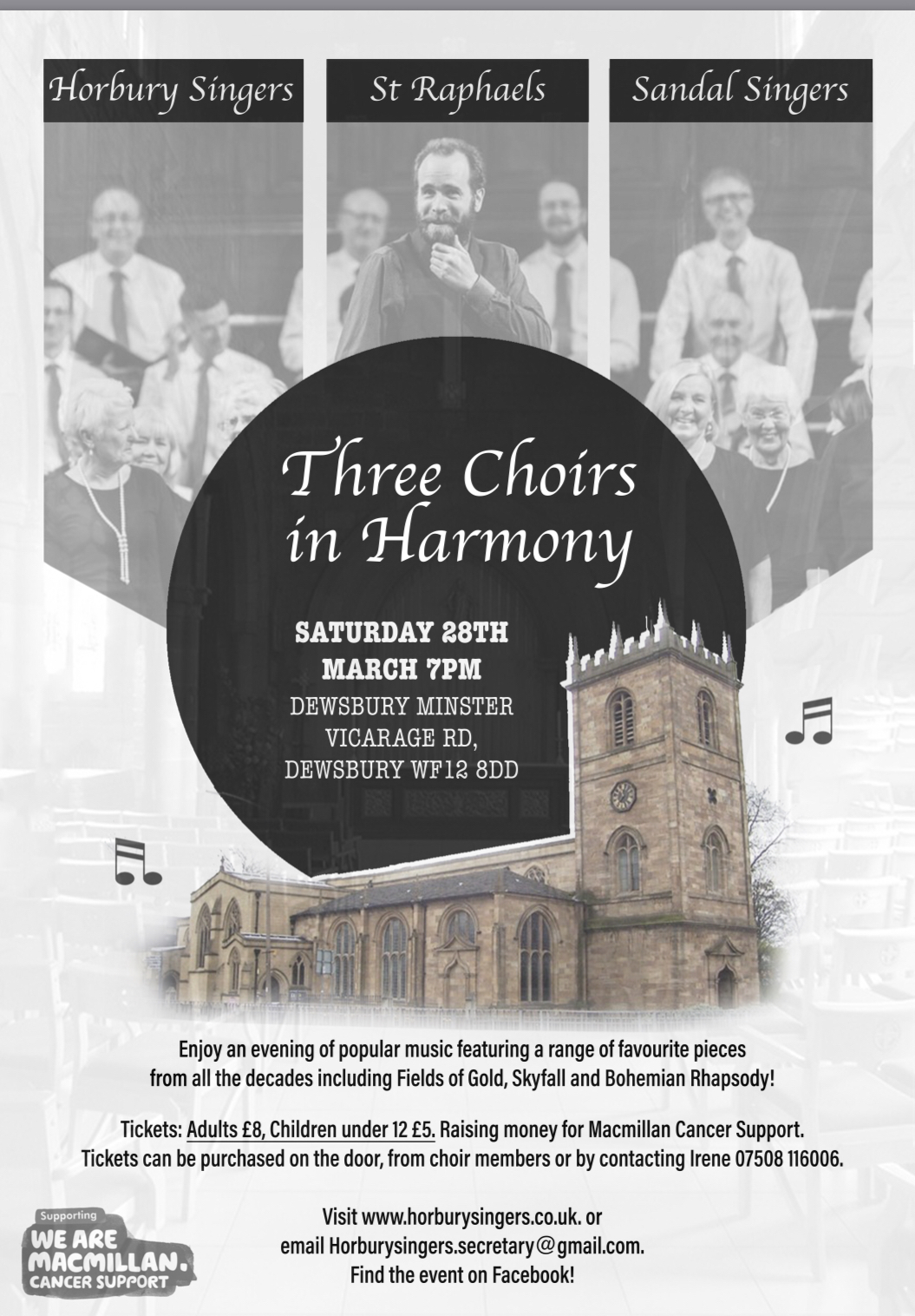 Three Choirs in Harmony Concert 28 March 20