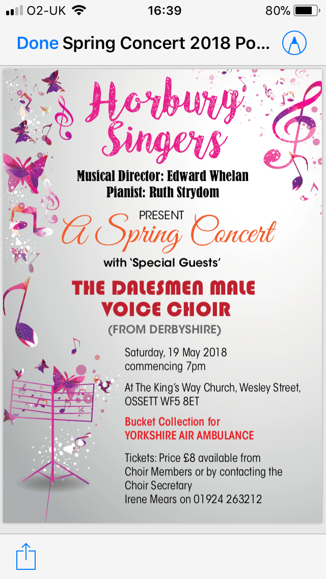 Spring Concert with the Dalesmen 2018