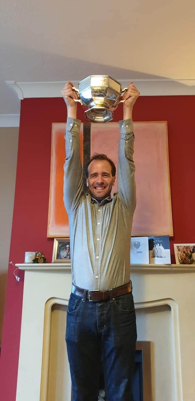 We did it! Edward celebrates our Whitby win